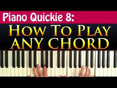 How to Construct ANY Chord (Piano Quickie 8)