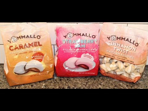 Yummallo Marshmallows: Caramel Filled, Strawberry Jam Filled and Cinnamon Twist Review