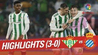 Resumen de Real Betis vs RCD Espanyol (3-0)