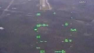 STS-122 landing (HUD view)