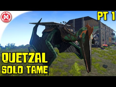 ARK: Survival Evolved - Quetzal Solo Tame Part 1 (Gameplay)