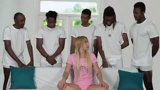 Black guys around white girl porn meme Piper Perri Surrounded Know Your Meme