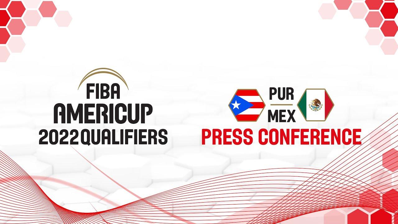 Puerto Rico v Mexico - Press Conference - FIBA AmeriCup Qualifiers 2022