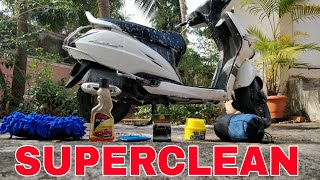 How to superclean your motorcycle or scooter