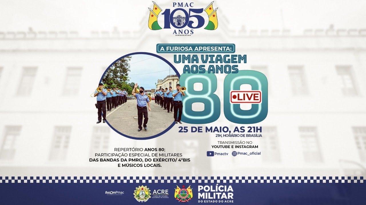 Download LIVE -  CONCERTO MUSICAL DA BANDA FURIOSA EM COMEMORAÇÃO AOS 105 ANOS DA POLÍCIA MILITAR DO ACRE