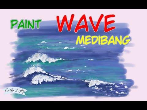 [MEDIBANG] Paint Ocean wave – Vẽ sóng biển