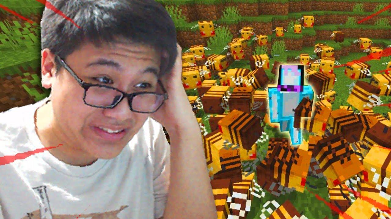Minecraft tapi DISENGAT LEBAH TIAP MENITNYA (Minecraft Indonesia)