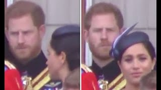 Lip reader reveals EXACTLY what Harry said to Meghan in Trooping the Colour 'telling off'