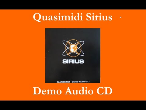 Quasimidi Sirius - Demo Audio CD - 22 tracks