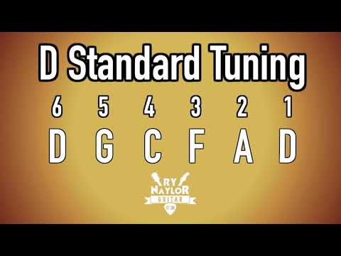 D Standard Tuning Guitar Notes