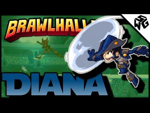 Diamond Ranked Diana 1v1's - Brawlhalla Gameplay :: I Jinxed It!