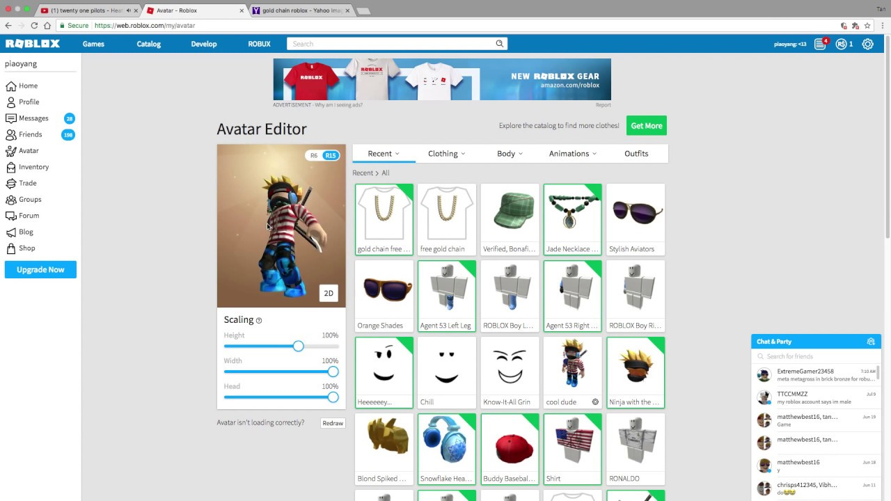 how to get free gold chain roblox - YouTube