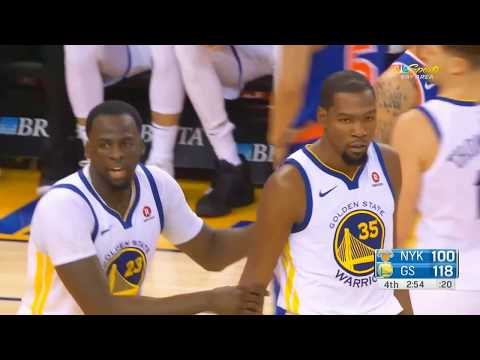 Kevin Durant Ejected for Cursing at Referee! Warriors vs Knicks January 23, 2018