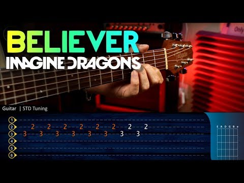 BELIEVER - Imagine Dragons - Guitar Tutorial TABS   Guitarra Cover Christianvib