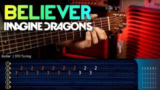 Gambar cover BELIEVER - Imagine Dragons - Guitar Tutorial TABS | Guitarra Cover Christianvib
