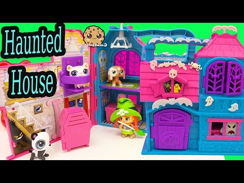 Pinypon GLOW IN THE DARK Halloween Haunted House Playset + Littlest Pet Shop - Cookieswirlc Video