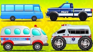 Street Vehicles for Toddlers | Car Cartoons for Children by Kids Channel