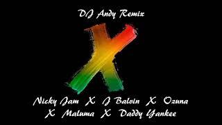 Nicky Jam, J Balvin, Ozuna, Maluma, Daddy Yankee - X (Equis) (DJ Andy Remix)
