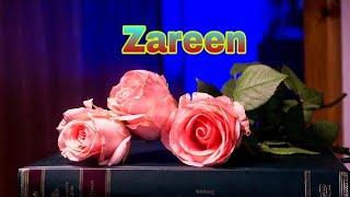 """Zareen"" name whatsapp status video || Jo tum na milte ||"