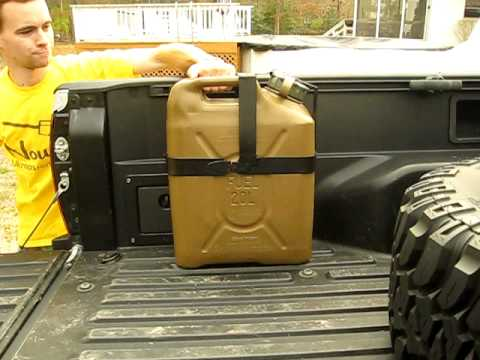 Jerry Can Holder For Truck Bed