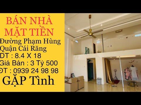 Nhà Bán Cần Thơ   Bán Nhà Mặt Tiền Đường Phạm Hùng Phường Ba Láng Quận Cái Răng TP Cần Thơ