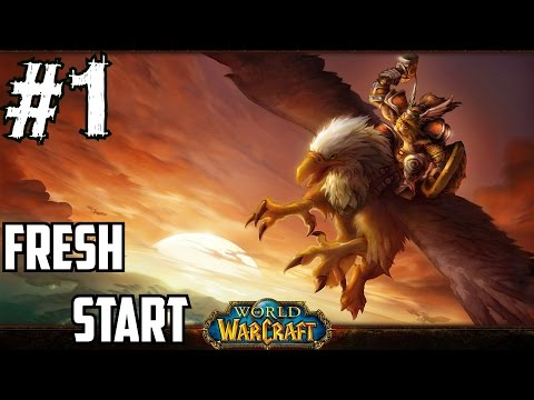 Classic World of Warcraft Gameplay Walkthrough Part 1 Fresh Start Leveling Guide 1-110 Tauren