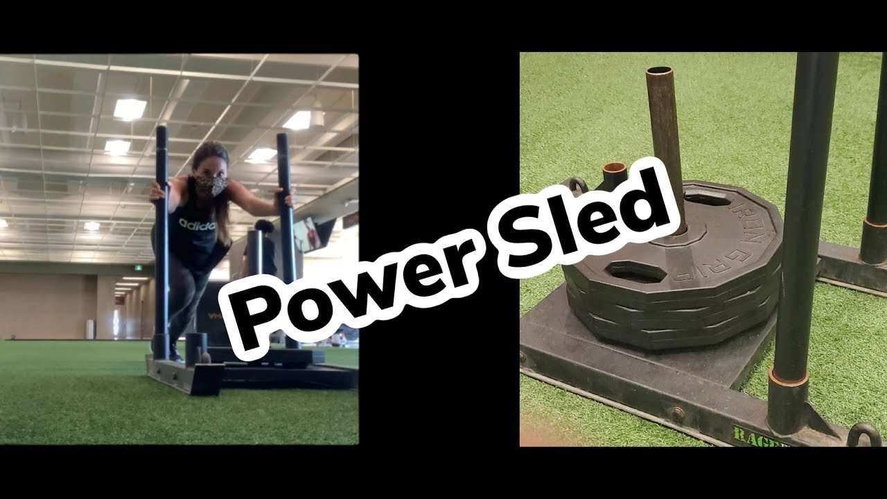 POWER SLED Workout at the Gym for the *FIRST TIME* #shorts