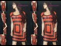 How to Crochet Granny Rectangle Beach Dress / Cover Up Pattern #360│by ThePatternFamily