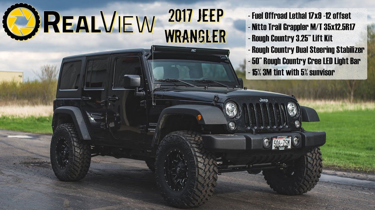 Jeep Wrangler Rims And Tire Packages >> 2017 Jeep Wrangler 17x9 Fuel Offroad Wheels 35x12 5r17 Nitto Tires