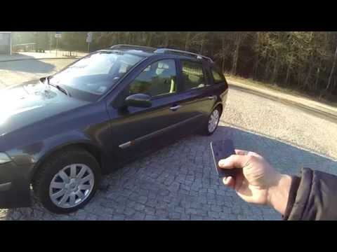 Renault Laguna II - power windows close from key card