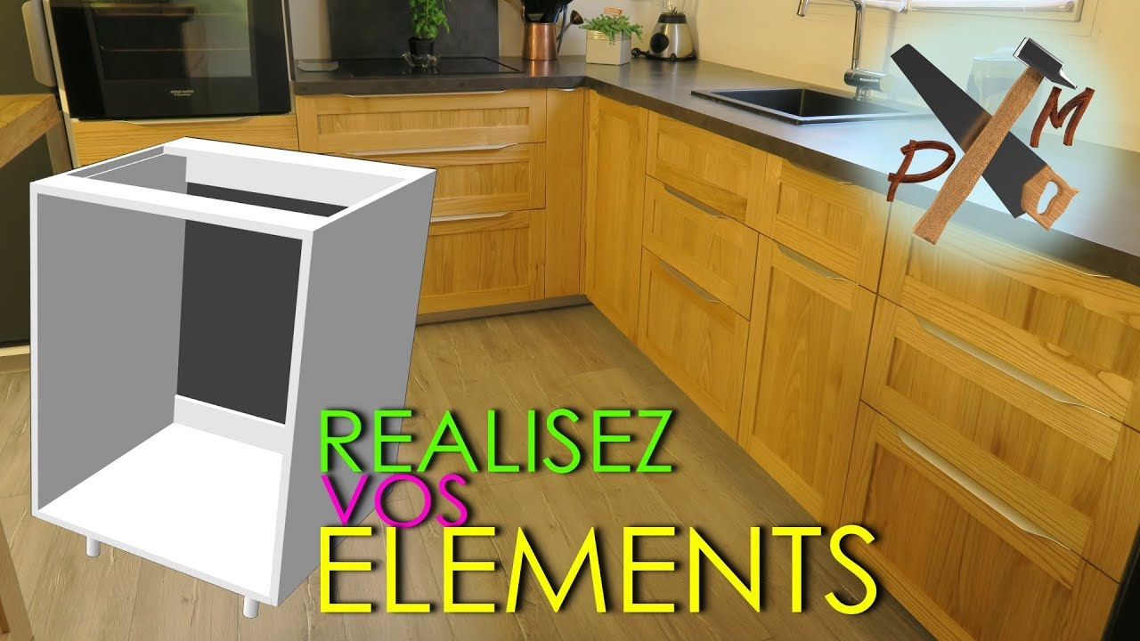 tutoriel fabriquer des elements meubles de cuisine amenagee sur mesure bricolage facile ep 1