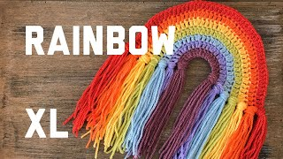 CROCHET AN EXTRA LARGE RAINBOW 🌈 beginner-friendly step by step crochet tutorial | Ophelia Talks