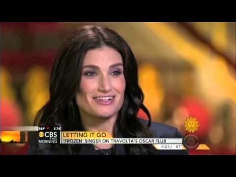 "IDINA MENZEL of ""FROZEN"" Singer on Travolta's Oscar Flub"