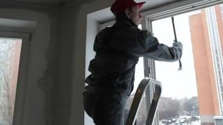Теплый монтаж пластиковых окон  от