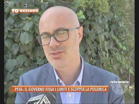 TG BASSANO (08/09/2016) - PFAS: IL GOVERNO FISSA I LIMITI E SCOPPIA LA POLEMICA
