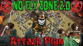 How to 3 STAR NO FLY ZONE 2.0 w/ Queen POP LaLoon. OneHive Gazzette War BASE Clash of Clans