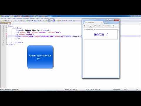 Tutorial HTML : Cara Membuat Form Sign In Yahoo