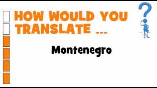 SWEDISH TRANSLATION QUIZ = Montenegro