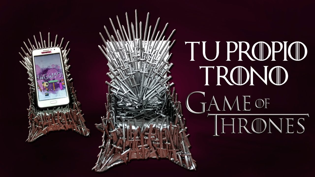 Thrones Silla Manualidades Propio Para Game Tu Trono Celular Of Hace ALc4qS3R5j