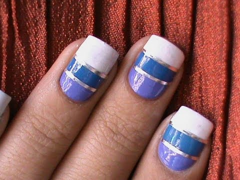How to do Striping Tape Nail Art *Tutorial* - How To Do Striping Tape Nail Art *Tutorial* - YouTube