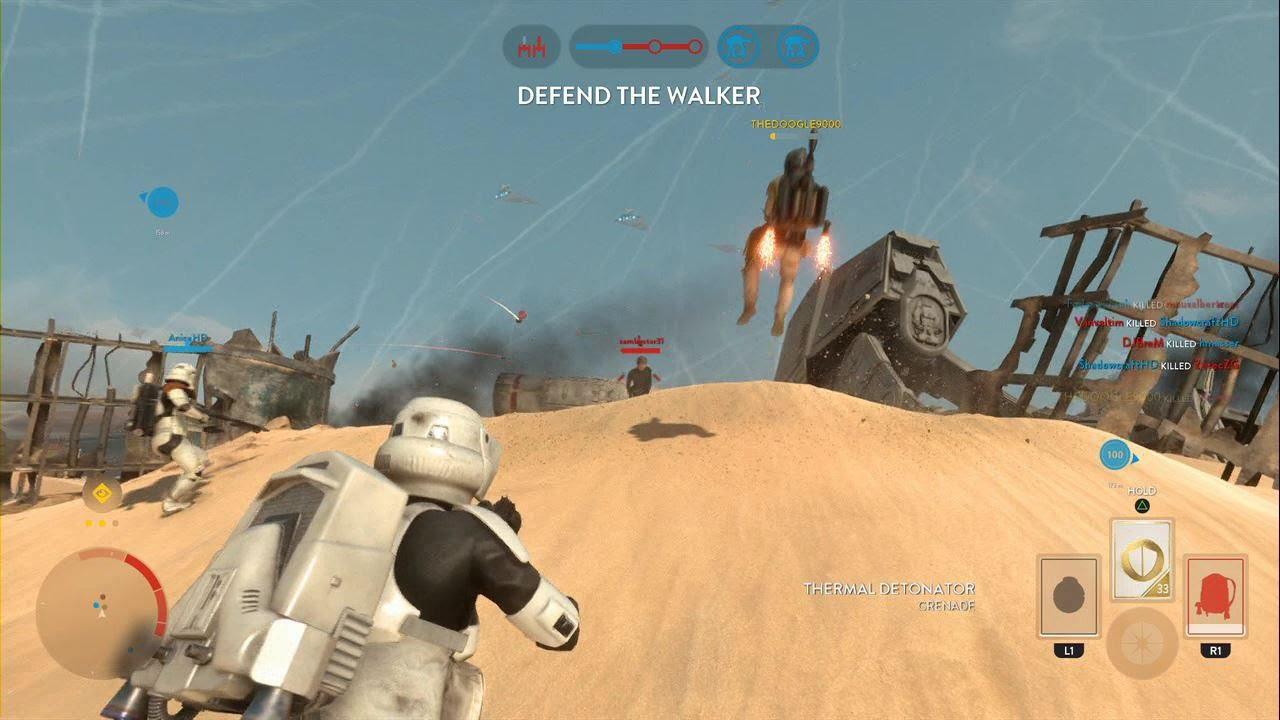 Star Wars Battlefront Battle Of Jakku Walker Assault Gameplay Ps4 No Commentary Youtube