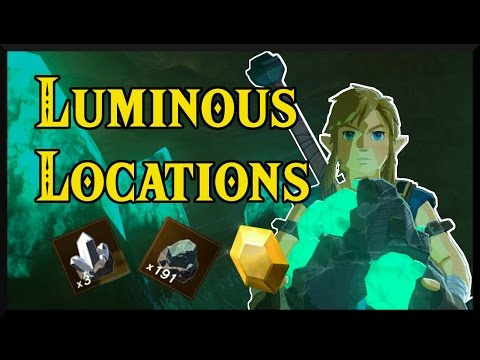 [Zelda Breath of the Wild] Luminous Stone Locations and Mining Routes