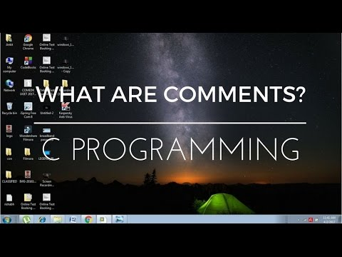 C Programming tutorial - 3 - Comments