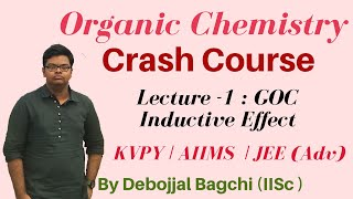 Organic Chemistry CRASH COURSE | Lecture 1 | Inductive Effect | CrackIT for JEE, KVPY, NEET & AIIMS