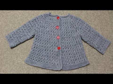 Sueter de 9 a 12 meses crochet parte 2 de 2 youtube - Tejer chaqueta bebe 6 meses ...