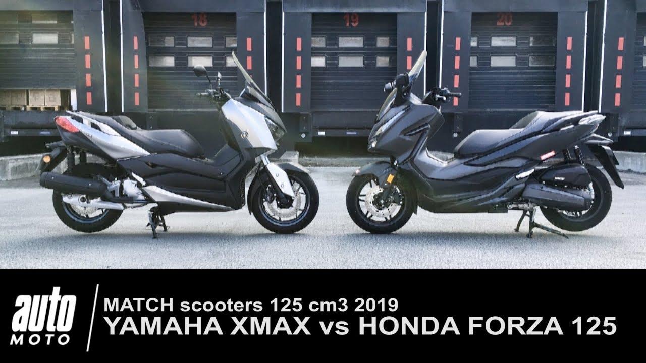 2018 Honda Forza 125 Vs Yamaha Xmax Match Auto Moto Com