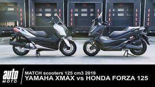 2018 Honda FORZA 125 vs Yamaha XMAX match Auto-Moto.com