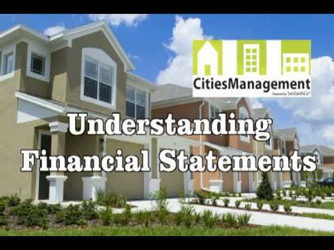 Understanding Financial Statements | HOA Board Tips | Cities Management Powered by SenEarthCo