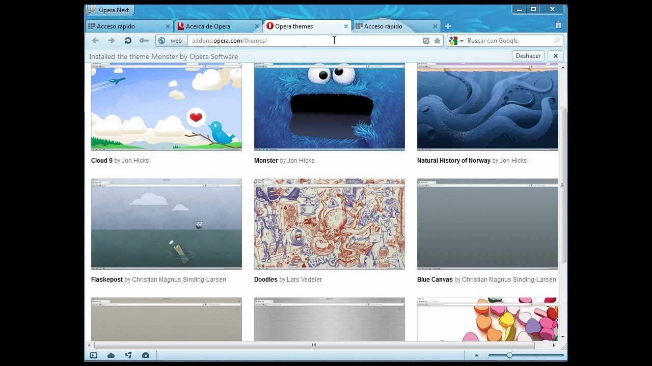 Google themes opera - Opera 12 00 Alpha Themes