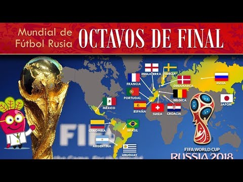 OCTAVOS DE FINAL ⚽ MUNDIAL DE FUTBOL FIFA 2018 | Rusia Russia | Pais Bandera